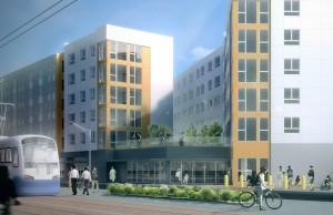 Mercy Housing at Othello Station courtesy of Ankrom Moisan Architects